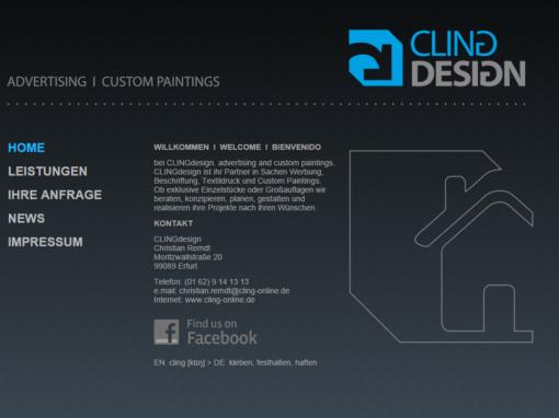 Logodesign, Beschriftung und Werbung – Cling Design